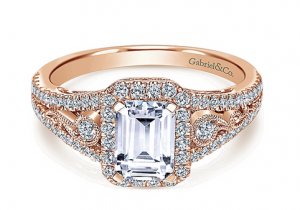Antique Vintage Inspired Diamond Wedding Rings